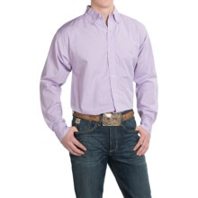 Resistol Ranch Western Shirt - Long Sleeve (For Men) in Lavendar Textured - Closeouts