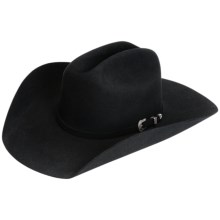 Resistol The Challenger Cowboy Hat - 5X Fur Felt (For Men and Women) in Black - Closeouts