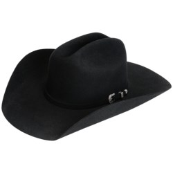 Resistol The Challenger Cowboy Hat - 5X Fur Felt (For Men and Women) in Black