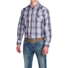 Resistol University Plaid Shirt - Snap Front, Long Sleeve (For Men) in Blue/Brown - Closeouts