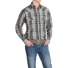 Resistol University Plaid Shirt - Snap Front, Long Sleeve (For Men) in Green/Blue - Closeouts