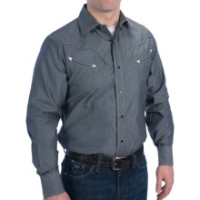 Resistol University Urban Cowboy Shirt - Long Sleeve (For Men) in Black Pinpiont - Closeouts