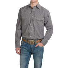 Resistol Western Shirt - Long Sleeve (For Men) in Brown/White Stripe - Closeouts