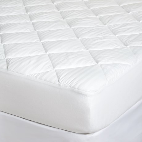 Restful Nights Grand Stripe Mattress Pad King, 400 TC