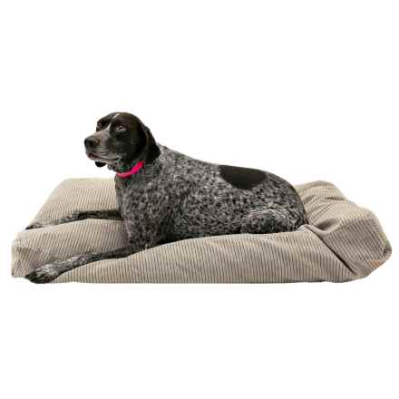 "Restless Tails Plush Dog Bed - 42x24"" in Calima Gravel - Closeouts"