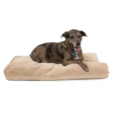 "Restless Tails Plush Dog Bed - 42x24"" in Delray Cream - Closeouts"