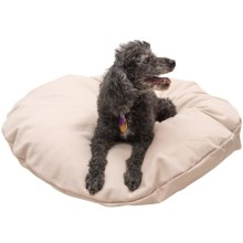 """Restless Tails Round Dog Bed - Knife Edge, 30"""" in Khaki - Closeouts"""