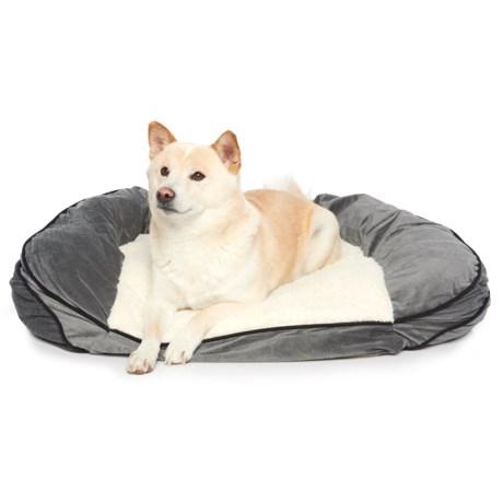 "Restology Orthopedic Memory-Foam Sofa Dog Bed - 32x25"" in Grey"