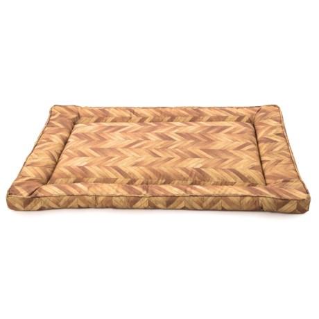 "Restology Wood Print Pet Crate Mat - 23x35"", Water Resistant in Beech"