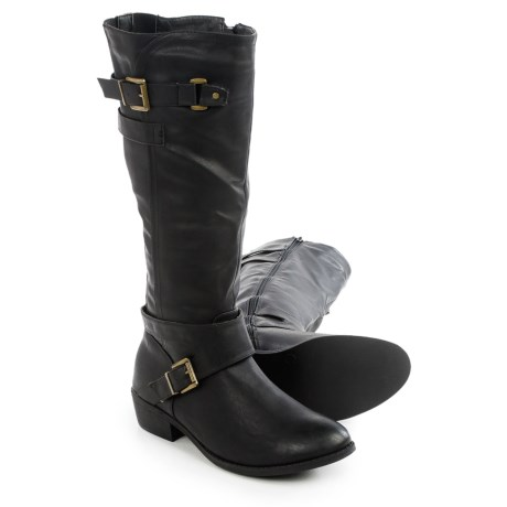 Restricted Next Move Tall Boots - Vegan Leather (For Women) in Black