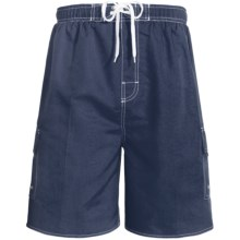 Revens Sports Solid Swim Shorts - Inner Brief (For Men) in Dark Navy - Closeouts