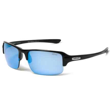 Revo Abyss Sunglasses - Polarized in Black/Blue - Closeouts