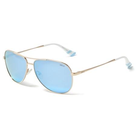 fd52694edd2d Revo Aviator Draper James Sunglasses - Polarized (For Women) in Gold/Blue  Water