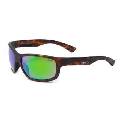 Revo Baseliner Sunglasses - Polarized in Matte Tortoise/Green Water - Closeouts