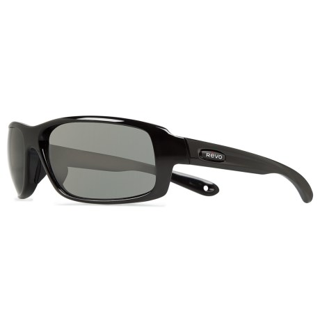 Revo Converge Sunglasses - Polarized, Glass Lenses in Polished Black/Graphite