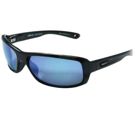 Revo Converge Sunglasses - Polarized in Black/Blue Water - Closeouts
