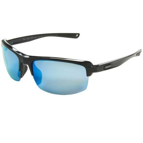 Revo Crux S Sunglasses - Polarized in Polished Black/Water