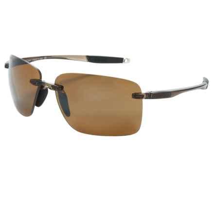 Revo Descend E Sunglasses - Polarized in Crystal Brown/Bronze - Closeouts