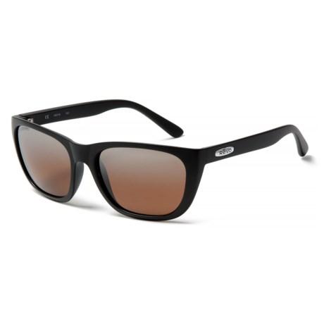 Revo Grand Sixties Sunglasses - Polarized in Matte Black/Bronze