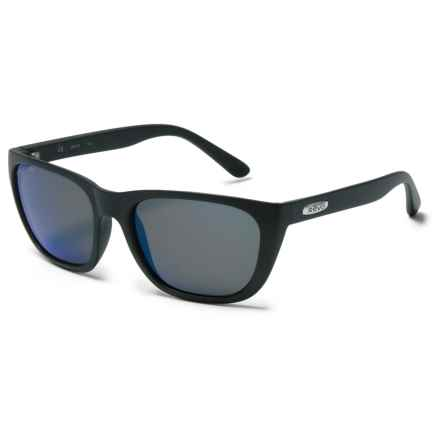 Revo Grand Sixties Sunglasses - Polarized in Matte Black/Heritage Blue - Overstock
