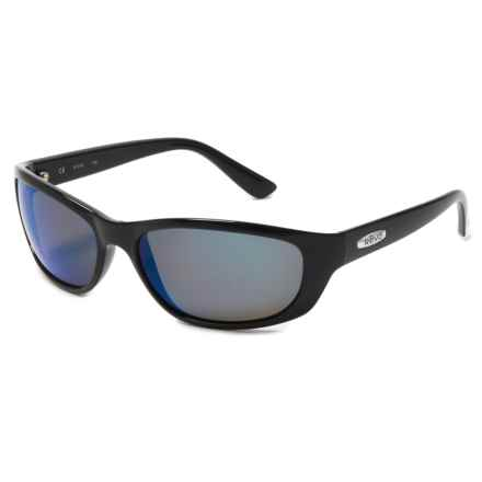 Revo Grand Wrap Sunglasses - Polarized in Poly Black Recycled/Cobalt - Closeouts