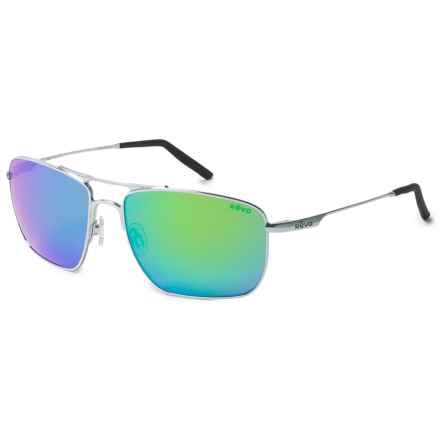 Revo Groundspeed Navigator Sunglasses - Polarized in Chrome/Green - Closeouts