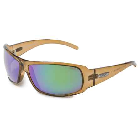 Revo Gunner Large Sunglasses - Polarized in Amber/Green Water - Overstock