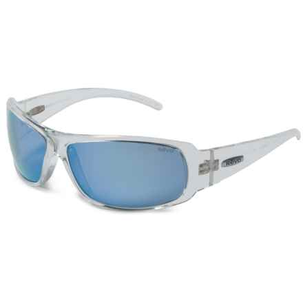 Revo Gunner Large Sunglasses - Polarized in Clear Crystal/Blue Water - Overstock