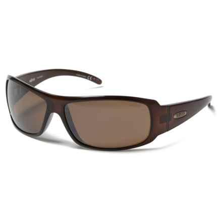 Revo Gunner Large Sunglasses - Polarized in Crystal Brown/ Terra - Overstock