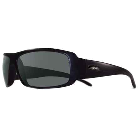 Revo Gunner Large Sunglasses - Polarized in Matte Black/Graphite - Overstock