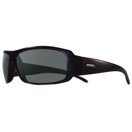 Revo Gunner Large Sunglasses - Polarized in Matte Black/Graphite