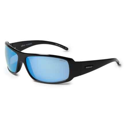 Revo Gunner Large Sunglasses - Polarized in Shiny Black/Bluewater - Overstock