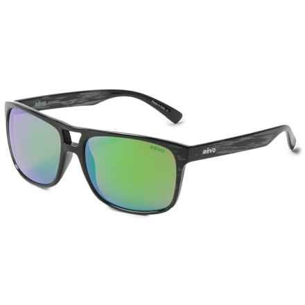 Revo Holsby Sunglasses - Polarized in Woodgrain/Green - Closeouts