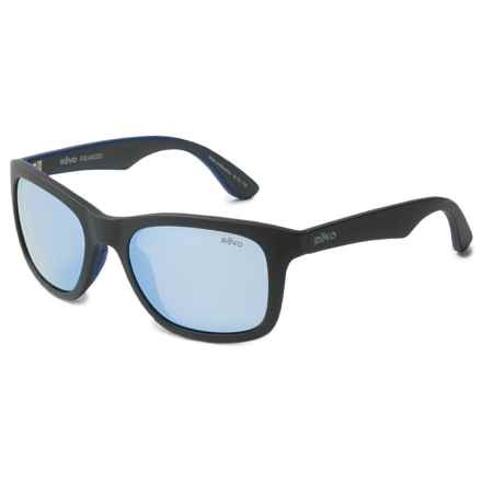 Revo Huddie Sunglasses - Polarized in Matte Black/Blue Water - Closeouts