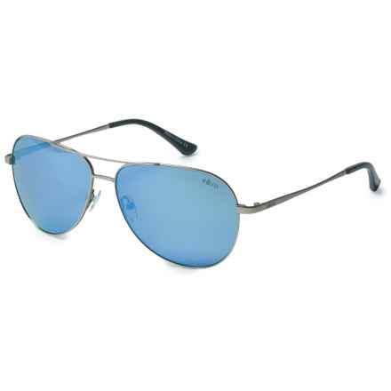 Revo Johnston Sunglasses - Polarized, Serilium Polycarbonate Lenses in Satin Silver/Blue Water - Overstock