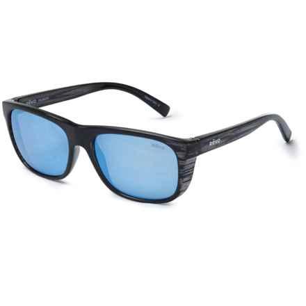 Revo Lukee Sport Sunglasses - Polarized Mirror Lenses in Woodgrain/Blue Water - Closeouts