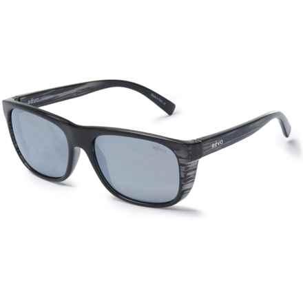 Revo Lukee Sport Sunglasses - Polarized Mirror Lenses in Woodgrain/Graphite - Closeouts