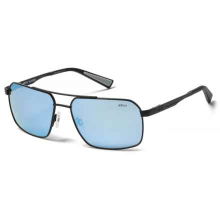 Revo Pax Sunglasses - Polarized in Satin Black/Blue Water - Closeouts