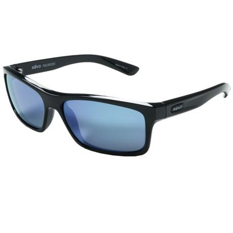 Revo Square Classic Sunglasses - Polarized in Black/Blue Water