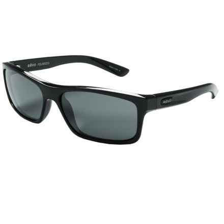 Revo Square Classic Sunglasses - Polarized in Black/Graphite - Closeouts
