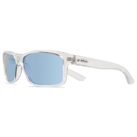 Revo Square Classic Sunglasses - Polarized in Clear/ Bluewater