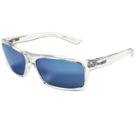 Revo Square Classic Sunglasses - Polarized in Crystal/Blue Water