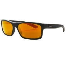 Revo Square Classic Sunglasses - Polarized in Matte Black/Classic Orange - Closeouts