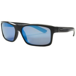 Revo Square Classic Sunglasses - Polarized in Matte Black/Classic Orange