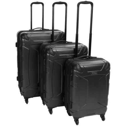 Revo Trek Nested Spinner Luggage Set - 3-Piece in Black - Closeouts