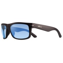 Revo Vanguard Sunglasses - Polarized in Matte Black/Blue Water - Closeouts
