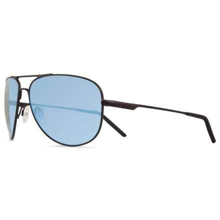 Revo Windspeed Sunglasses - Polarized in Matte Black/Blue Water - Closeouts