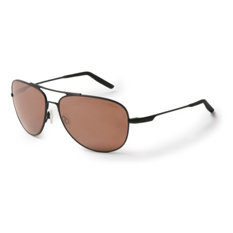 Revo Windspeed Sunglasses - Polarized in Matte Black/Terra