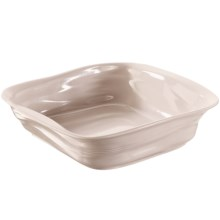 "Revol Froisses Culinaires Crumple Square Roasting Dish - 10x10"" in Taupe - Closeouts"