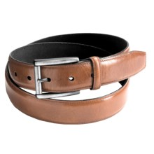Reward Glazed Feather Edge Belt - Full-Grain Leather (For Men) in Brown - Closeouts